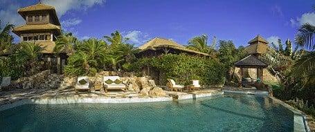 Pool on Richard Branson's Necker Island resort.