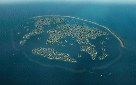 Richard Branson owns Great Britain Island, in The World, Dubai.
