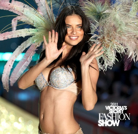 Adriana Lima at the Victoria's Secret Fashion Show 2011