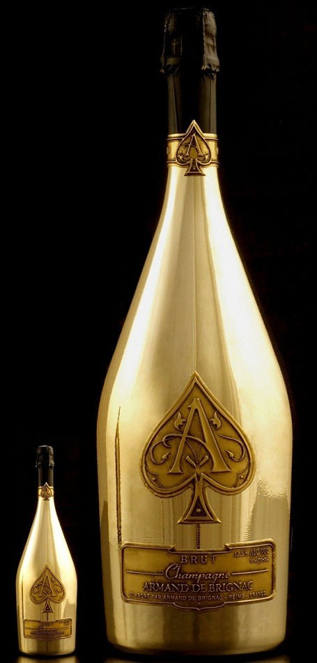 "The world's largest bottle of champagne is the Ace of Spades ""Midas"""