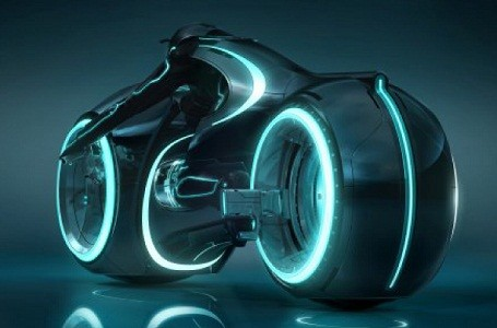 Custom TRON LIghtcycle for Project Dreamport.