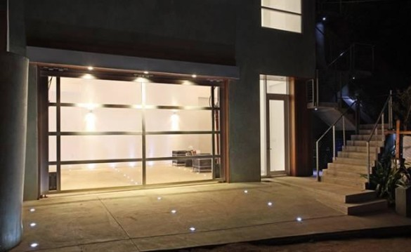 Chris Brown's garage in his new Hollywood Hills home.