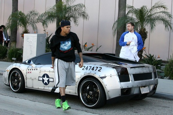 Chris Brown's custom Lamborghini Gallardo.
