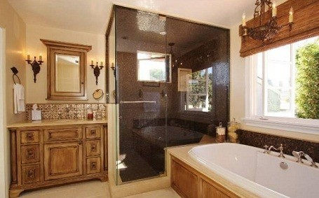 Bathroom in Mike Judge's Santa Monica home.