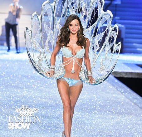 Miranda Kerr at the Victoria's Secret Fashion Show 2011
