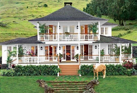 Oprah Winfrey's farmhouse home in Maui, Hawaii.