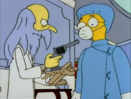 The Simpsons spoof of Howard Hughes and the Spruce Goose