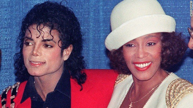 Whitney Houston and Michael JacksonWhitney Houston And Michael Jackson Kissing