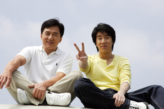 Jackie Chan with his son Jaycee Chan. Photo: Malaysia Chronicle