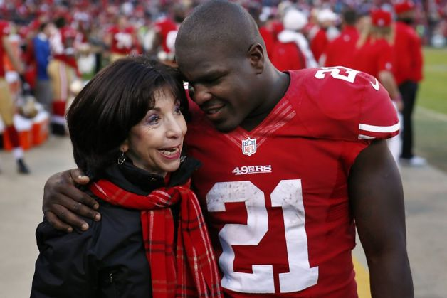 Denise York and Frank Gore