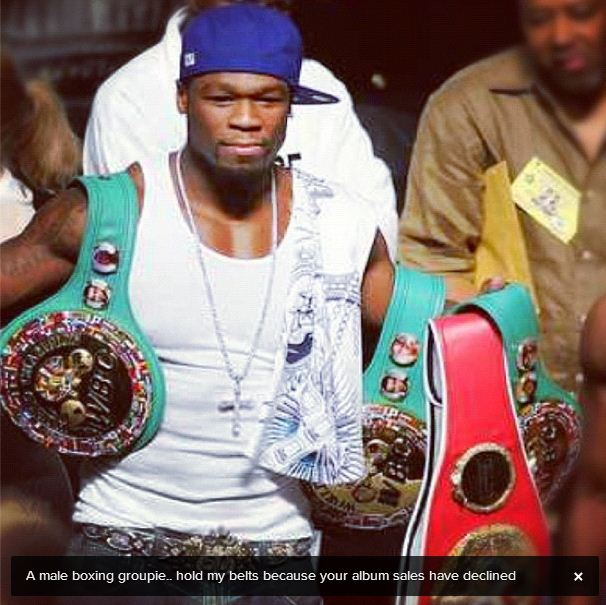 Floyd Mayweather Tweets Insults about 50 Cent