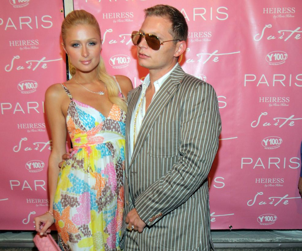Scott Storch and Paris Hilton