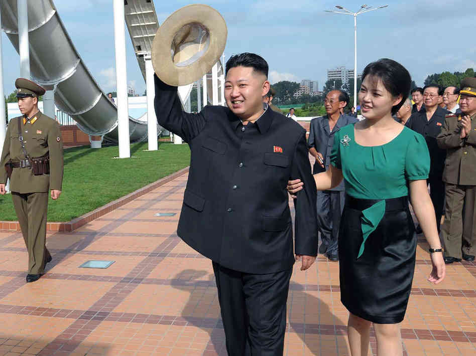 Kim Jong-un and Wife