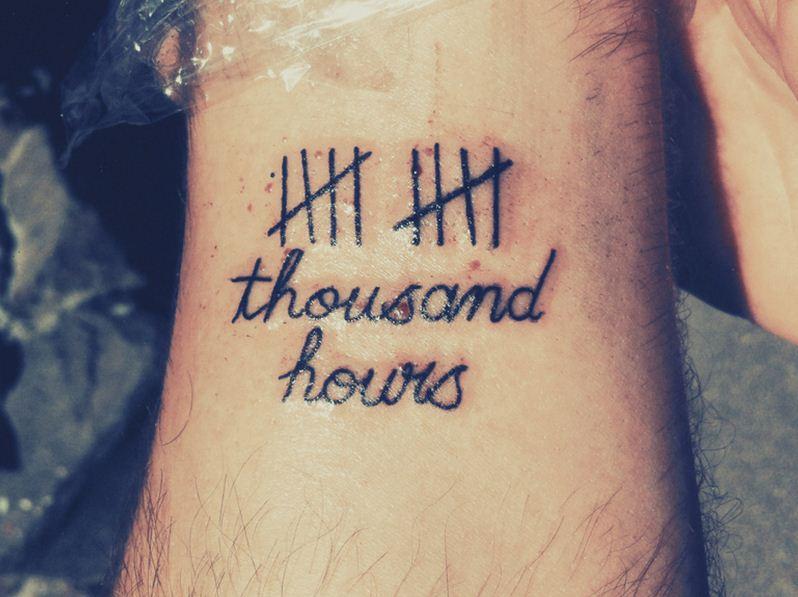 Macklemore's Ten Thousand Hours Tattoo