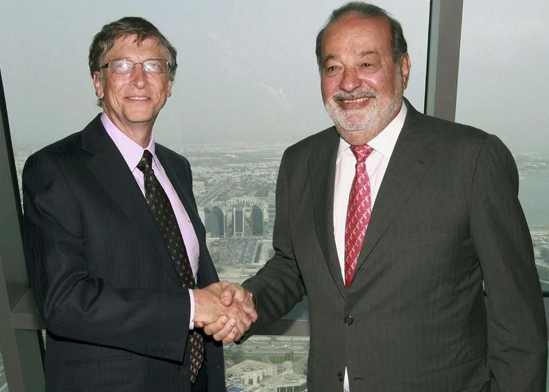 Bill Gates and Carlos Slim Helu