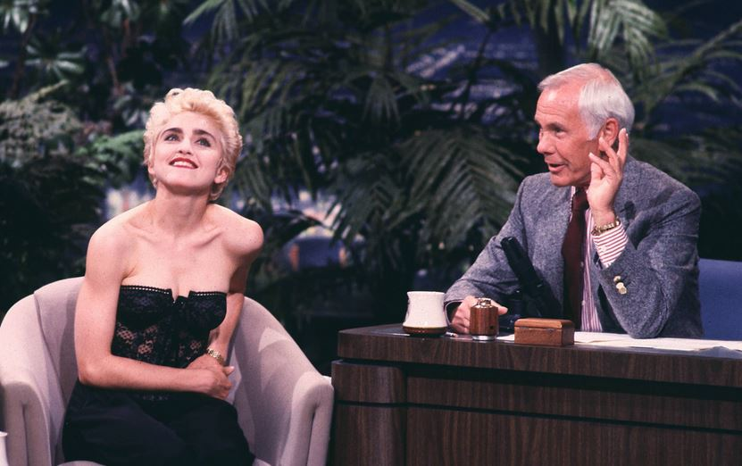 Johnny Carson and Madonna