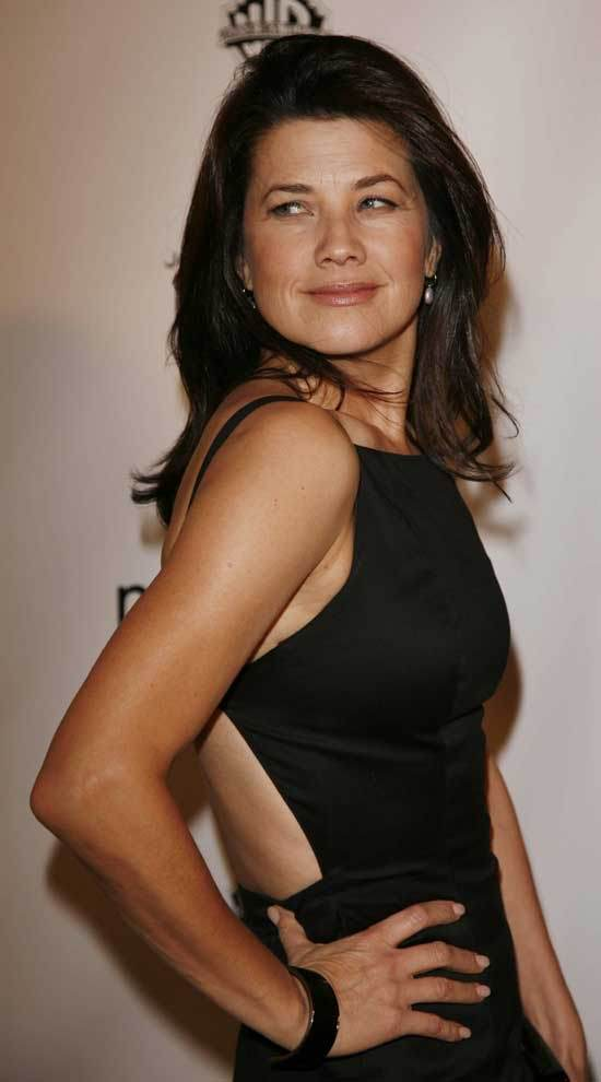 Daphne Zuniga black dress