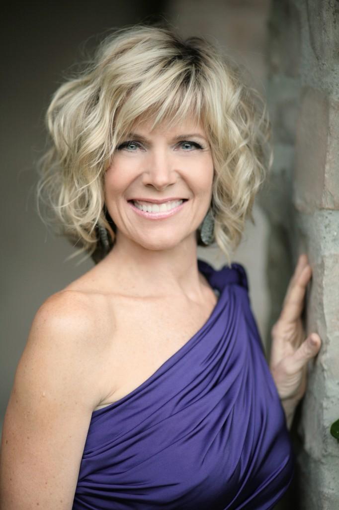Debby Boone purple dress