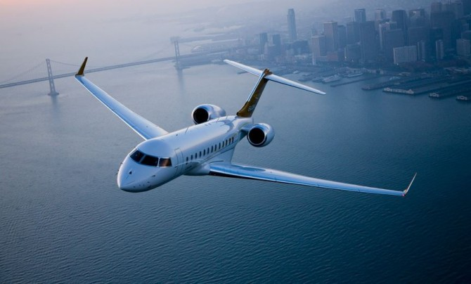Private Jet Over San Francisco