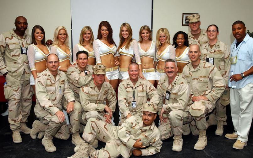 Saints Cheerleaders in Iraq