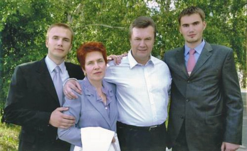 Viktor Yanukovych Family Five Years Ago The Pre...