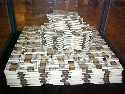 Stacks of $1 Million Cash