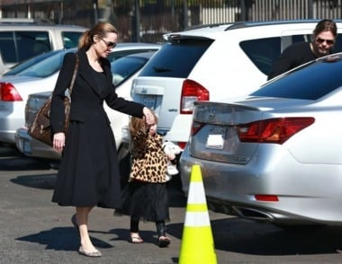 Angelina Jolie's Car:  One Half of Hollywood's Former Obsession Drives an Understated Vehicle