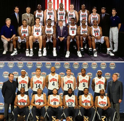 Which Dream Team is Richer 1992 or 2012?
