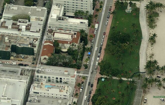 Aerial View of Gianni Versace's House