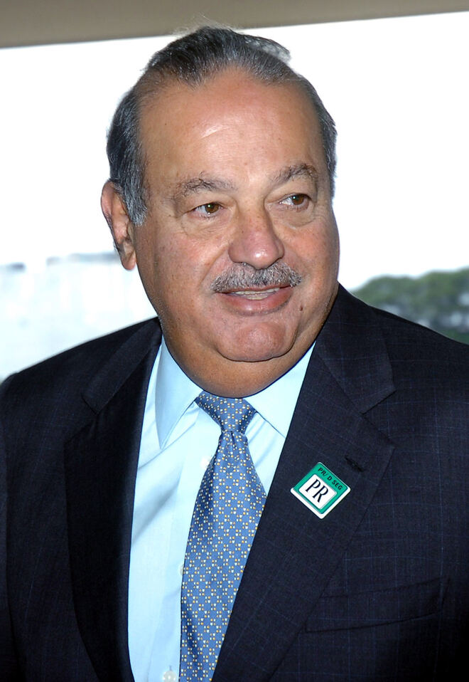 #2 Carlos Slim Helu - Net Worth $70.6 Billion
