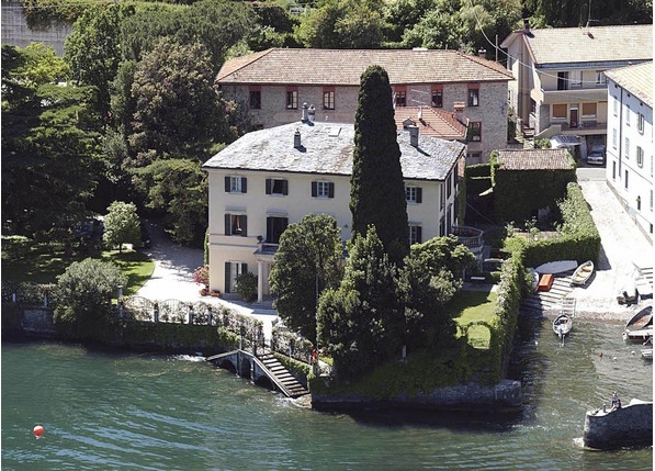 George Clooney's Home in Laglio, Italy.