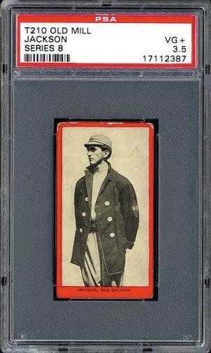 Joe Jackson - 1910 T210 Red Border
