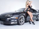 Jessica Barton's Car:  The Model's Custom Toyota Supra Gets Swiped