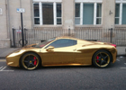 Check Out This $340,000 Gold Ferrari 458 Spider