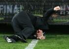 Australian Billionaire Frank Lowy Takes Nasty Spill Off Trophy Podium Of Football Event