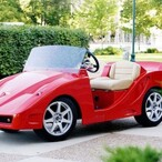 How do Will Smith and Adam Sandler golf? In custom Ferrari and Bentley golf carts, obviously.