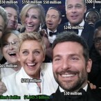 What Was The Combined Net Worth Of Ellen's Oscar Selfie?