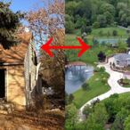 Childhood Homes of Celebrities Compared To Their Current Mansions