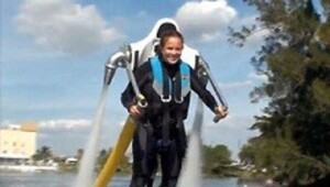Thumbnail for Jetlev water-powered jet pack now for sale, will not burn off your legs