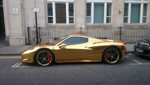 Thumbnail for Check Out This $340,000 Gold Ferrari 458 Spider