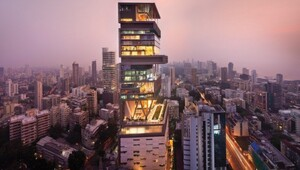 "Thumbnail for 12 Stunning Facts About Mukesh Ambani's Billion Dollar Mumbai Mansion ""Antilia"""