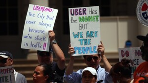 "Thumbnail for ""Über Spends Millions On Attack Ads After NYC Mayor Announces Cap On Drivers… Can It Work?!"""