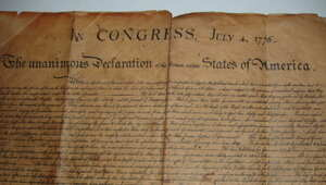 Thumbnail for Guy Spends $4 On Flea Market Picture Frame, Finds Copy Of The Declaration Of Independence, Becomes Millionaire.