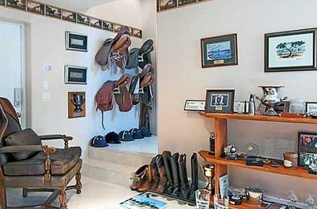 Horse saddle and equipment room in Bill Gates Florida rental home