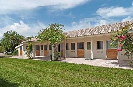Horse stable at Bill Gates Florida rental home